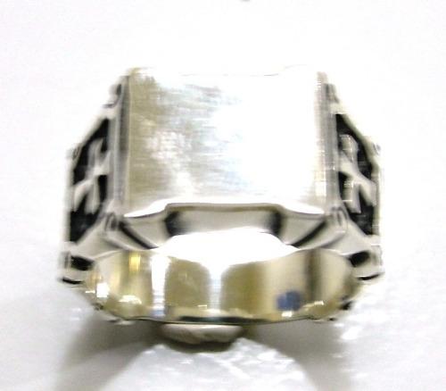 anel templario prata