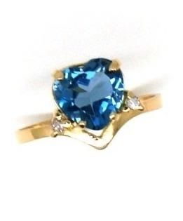 anel topázio london coração com brilhantes ouro 18652 k305