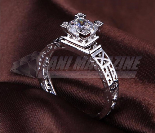 anel torre eiffel paris feminino zircônia banho prata 925