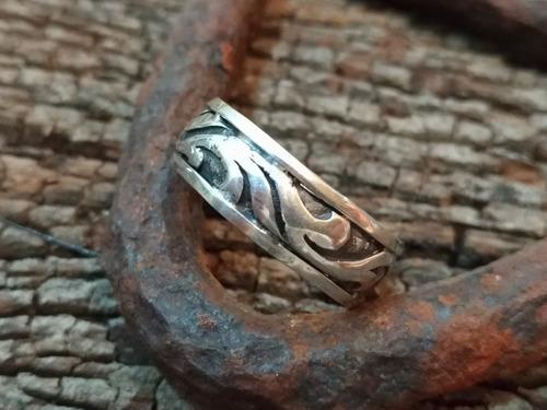 anel tribal prata 925