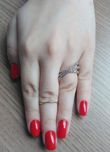 anel trio zircônias luxo folheado a ouro 18k semijoia