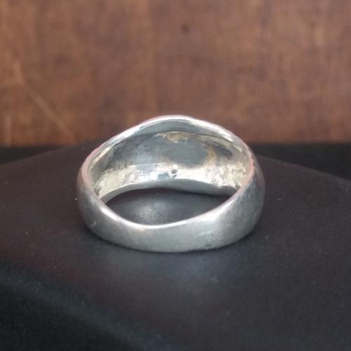 anel usado prata maciça 4,8 g aro 23