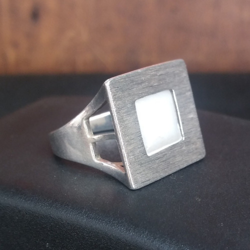 anel usado prata maciça com opala 8,1 g aro 23