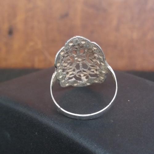 anel usado prata marcassitas e filigranas 3,3 g aro 23