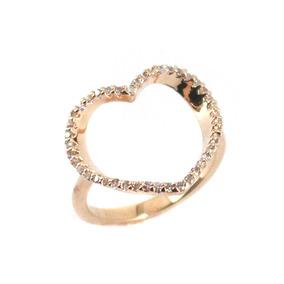 96e833318 Anel De Ouro Coração Vazado Banhado - Outros Tipos Feminino no ...