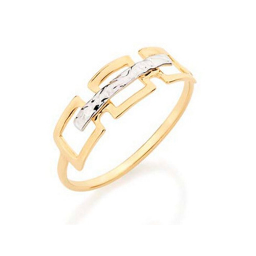 anel vazado folheado ouro