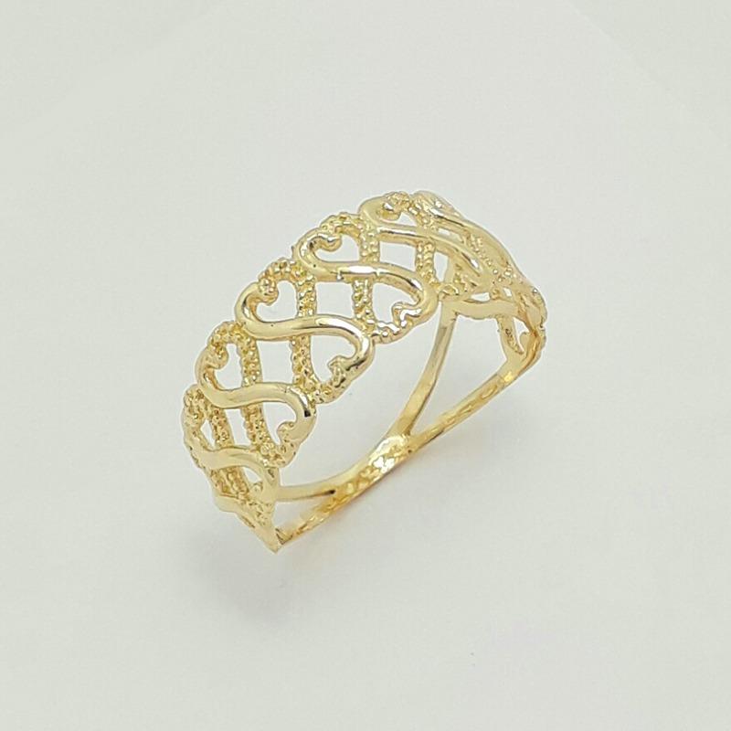 8e9633ddd1520 anel vazado infinito de ouro 18k 750. Carregando zoom.