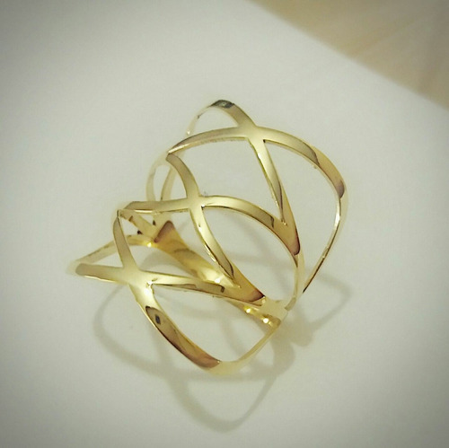 anel vazado ouro