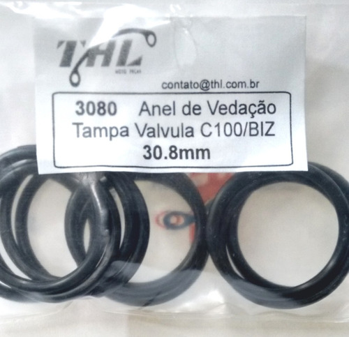 anel vedação 30.8mm (10un) tampa válvulas biz/ lead/ cbr1100