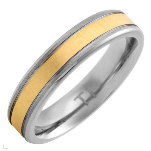 anel vibrant brand new gentlemens band ring made of 14k/ti