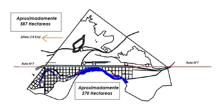 añelo / vaca muerta / 270 hectáreas.
