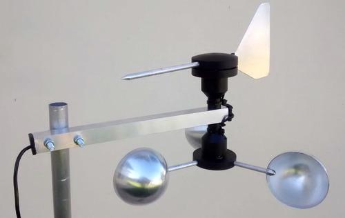anemômetro com indicador dir vento biruta eletronico arduino