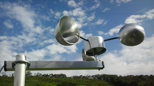 anemômetro fixo c/ alarme programável de ventos fortes