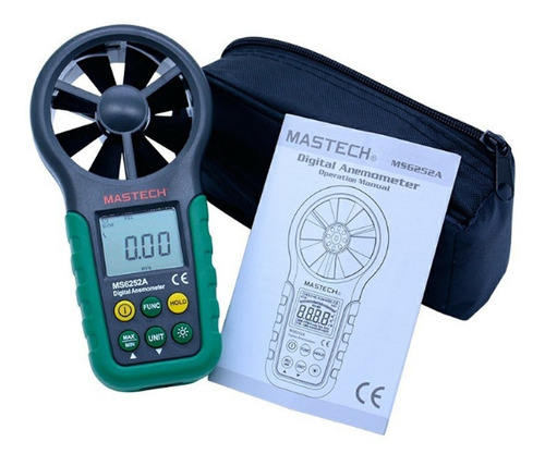 anemómetro digital de mano mastech ms6252a con funda