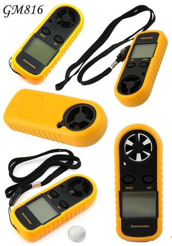 anemómetro digital medidor velocidad viento temperatura