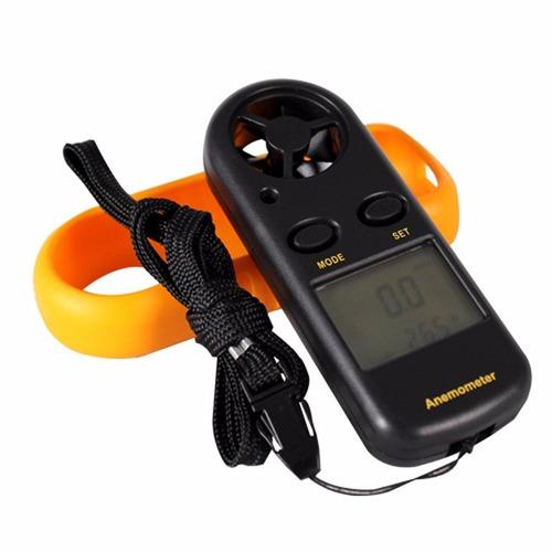 anemómetro digital portátil medidor de viento termometro air