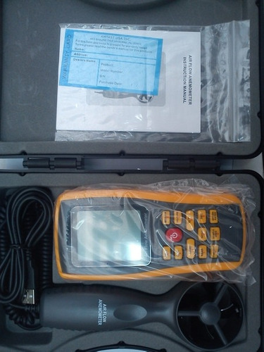 anemometro digital profesional mide caudal, velocidad y temp