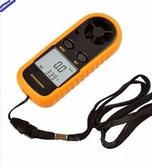 anemómetro digital, termómetro, velocidad viento.
