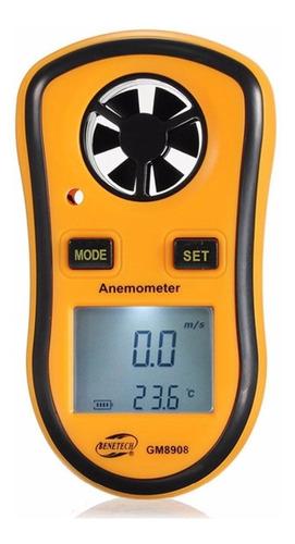 anemómetro digital velocidad viento/temperatura (con  pila)