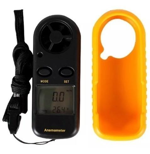 anemómetro termometro digital medidor de velocidad del vient