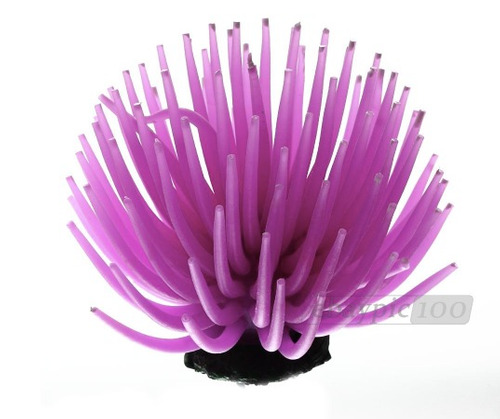 anemonas artificiales, acuarios, decoración , 5 colores