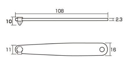 anexa 6102t manija de tornillo de perfil ultra bajo