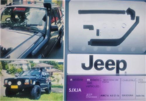 anfibio o snorkel jeep cherokee en plastico abs importado