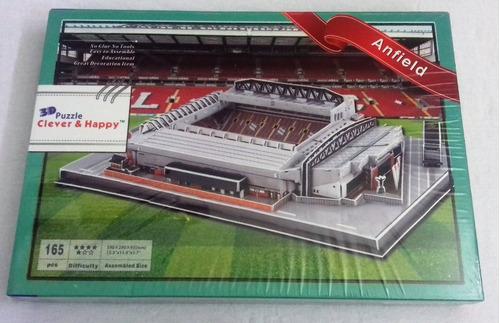 anfield stadium, rompecabezas en 3d