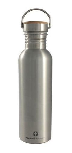 ánfora botella tapa bamboo acero inoxidable wagner 750 ml