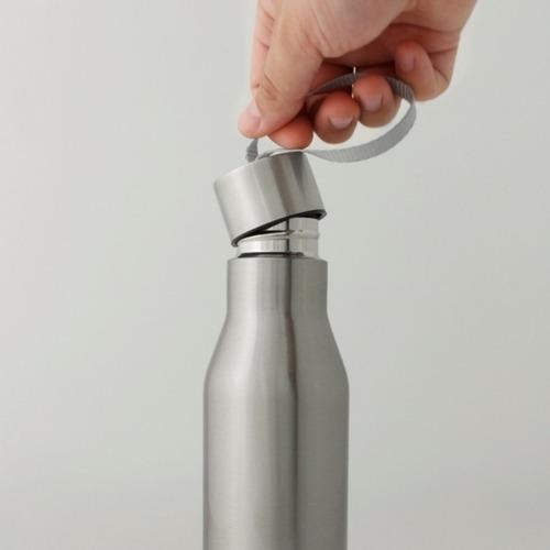 ánfora botella tapa rosca con listón acero inox. 500 ml