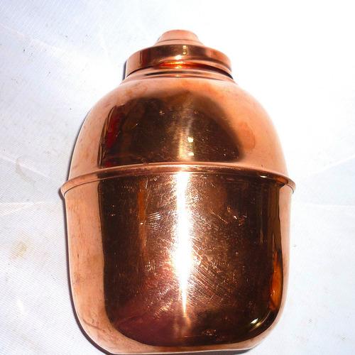 ánfora de cobre chileno, 22 cm. p/especiero,urna o potiche