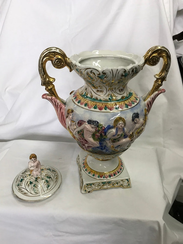 anfora porcelana capodimonte made in italy 1294