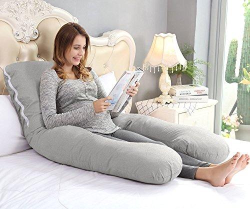 ang qi ushaped embarazo almohada con facil onoff jersey cubi