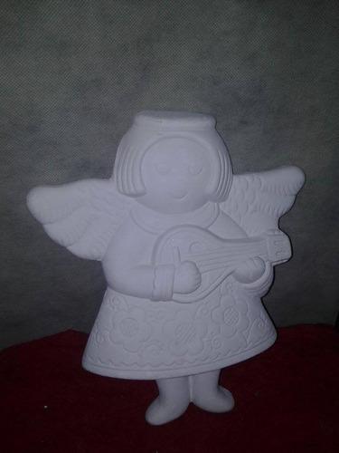 angel armonia yeso ceramico blanco para pintar alcancias