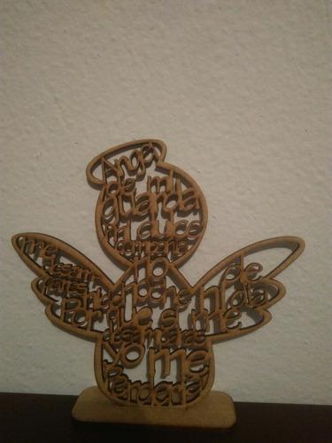 angel de la guarda en mdf corte laser