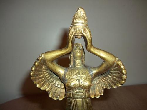 angel de la victoria bronde y cedro antiguo-