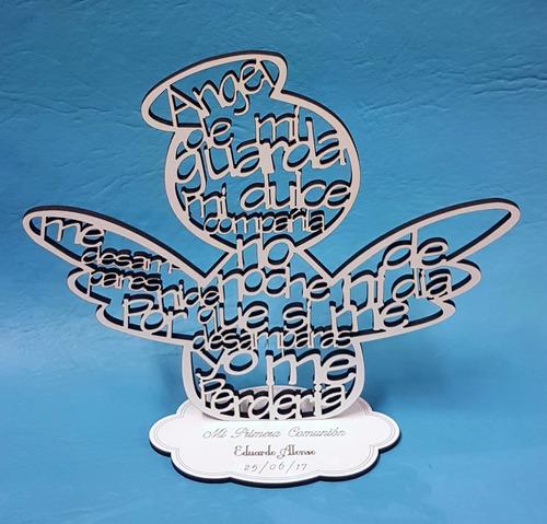 angel de mi guarda 18 cm souvenir comunión todo madera
