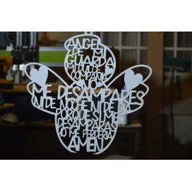 Angel De Mi Guarda Grande 50 X 50 Cm Blanco