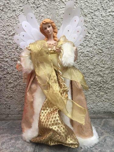angel de navidad santini para pico de árbol o mesa italiano