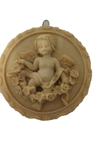 angel de resina angelito adorno paquete de 2 piezas