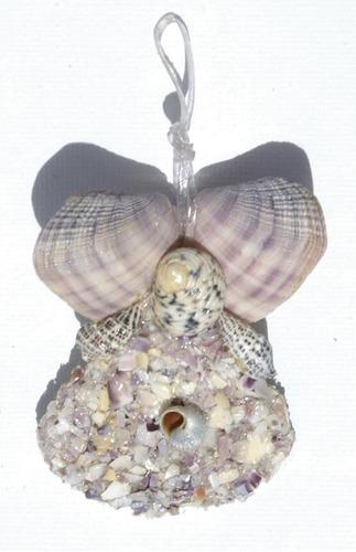 angel decoracion para arbol de las conchas arte de bahamas