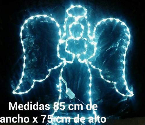 angel en fierro con luces led para adornar
