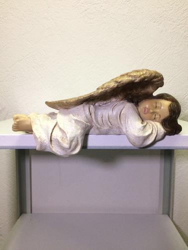 angel esquinero de resina 30 cm largo