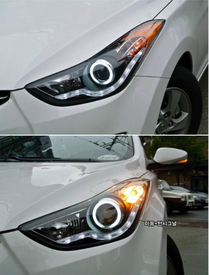 Hyundai elantra angel eyes-9256