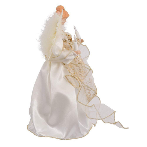 ángel iluminado copa de árbol espíritu navideño envío gratis