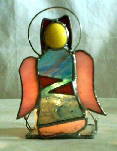 angel portavela vitreaux tiffany posavela