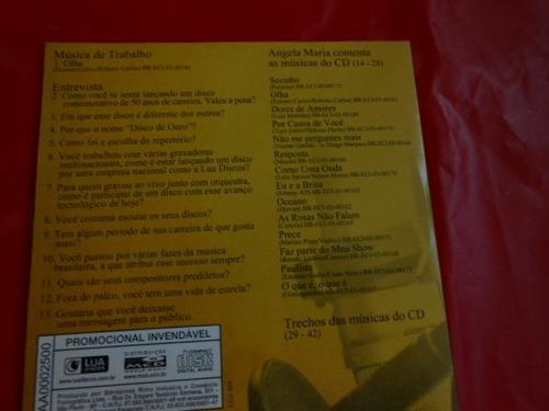 angela maria disco de ouro cd promocional roberto carlos