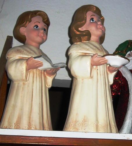 angeles cantores, adornos navideños