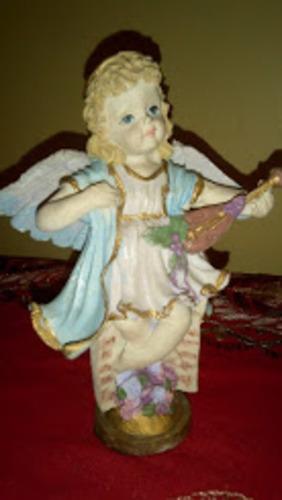 angeles en resina 16,5 cmtrs