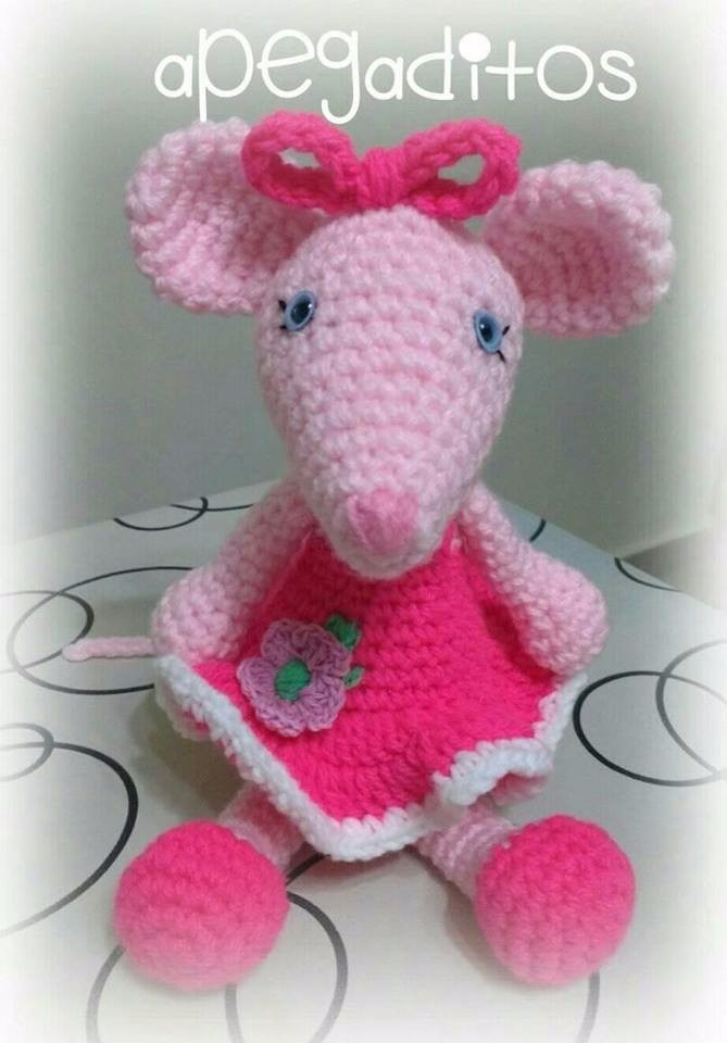 Angelina Ballerina crochet mouse | Crochet mouse, Crochet ... | 960x669